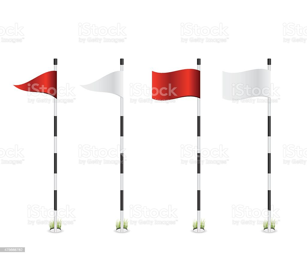 royalty free golf flag clip art vector images illustrations istock rh istockphoto com clip art golf flag pole golf course flag clip art